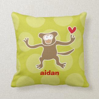 Cartoon Cute Monkey Love Whimsical Kids Cushion Pillows