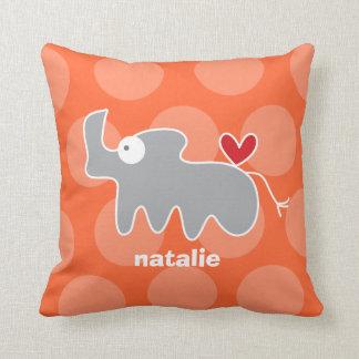 Cartoon Cute Rhino Love Whimsical Kids Cushion Throw Pillows