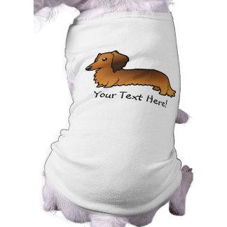Cartoon Dachshund (longhair) Dog Tshirt