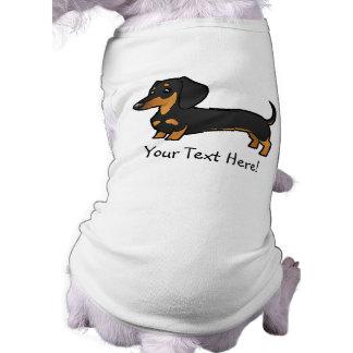 Cartoon Dachshund (smooth coat) Dog T-shirt
