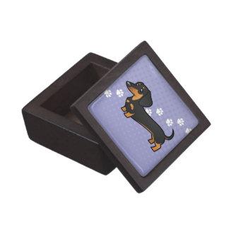 Cartoon Dachshund (smooth coat) Premium Gift Box