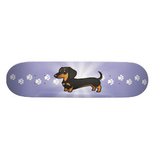 Cartoon Dachshund (smooth coat) Skate Board Decks