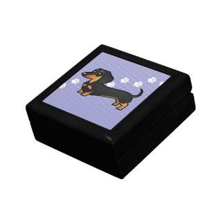 Cartoon Dachshund (smooth coat) Trinket Box