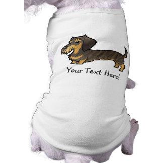Cartoon Dachshund (wirehair) Doggie Tee Shirt