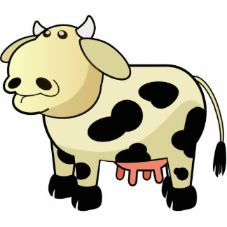 Cartoon Dairy Cow Key Chain Photo Sculpture Keychain