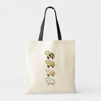 Cartoon Dairy Cows Tote Bag