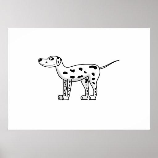 Cartoon Dalmatian Dog Poster