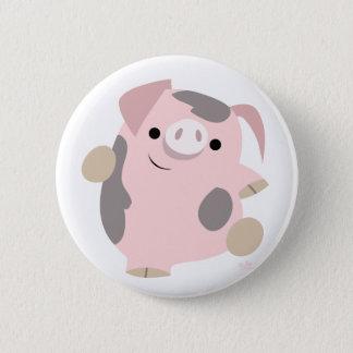 Cartoon Dancing Pig button badge