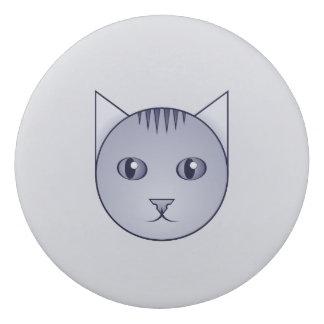 Cartoon Delft Tabby Cat Eraser