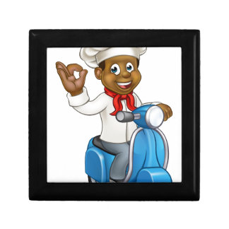 Cartoon Delivery Moped Chef Gift Box