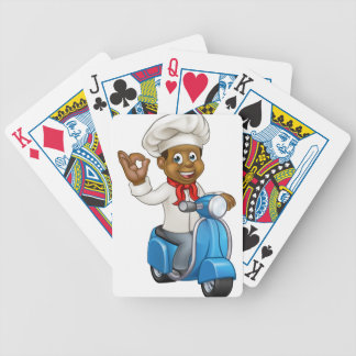 Cartoon Delivery Moped Chef Poker Deck