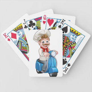 Cartoon Delivery Moped Scooter Chef Poker Deck