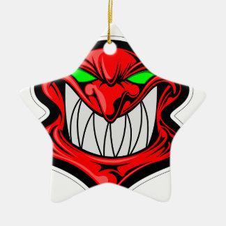 Cartoon Devil Ceramic Star Ornament