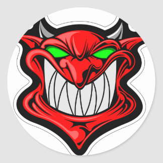 Cartoon Devil Classic Round Sticker
