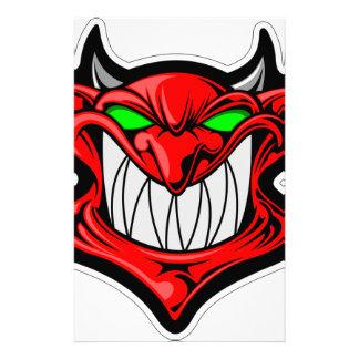 Cartoon Devil Custom Stationery