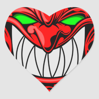 Cartoon Devil Heart Sticker