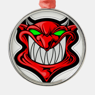 Cartoon Devil Metal Ornament