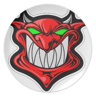 Cartoon Devil Plate