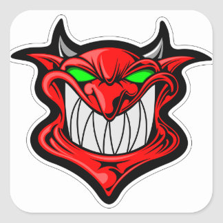 Cartoon Devil Square Sticker