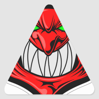 Cartoon Devil Triangle Sticker