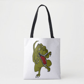 Cartoon Dinosaur TRex Tote Bag
