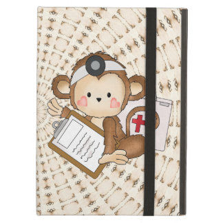 Cartoon Doctor Monkey iPad Air Powis case Cover For iPad Air