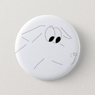 Cartoon dog 2 inch round button