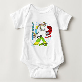 Cartoon Dog Agility Infant Creeper