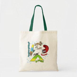 Cartoon Dog Agility Tote Bag