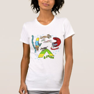 Cartoon Dog Agility Women's TShirt