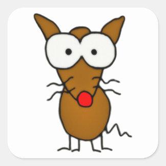 Cartoon Dog Square Sticker
