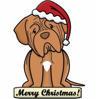 Cartoon Dogue de Bordeaux Christmas Ornament Photo Sculpture Ornament