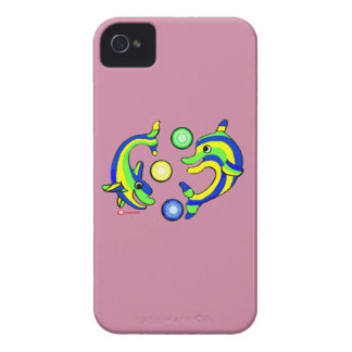 Cartoon Dolphins Case-Mate iPhone 4 Case