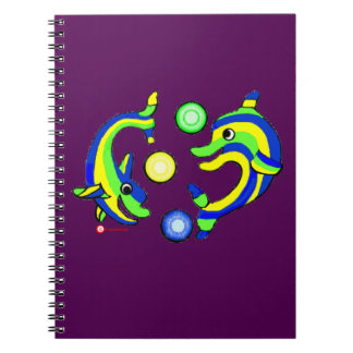 Cartoon Dolphins Note Books