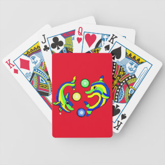 Cartoon Dolphins Poker Deck
