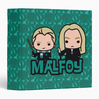 Cartoon Draco and Lucius Malfoy Character Art 3 Ring Binder