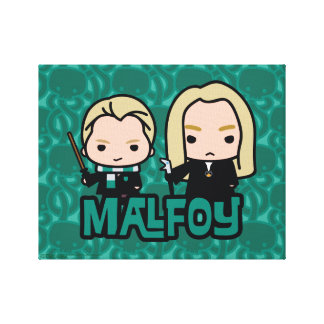 Cartoon Draco and Lucius Malfoy Character Art Canvas Print