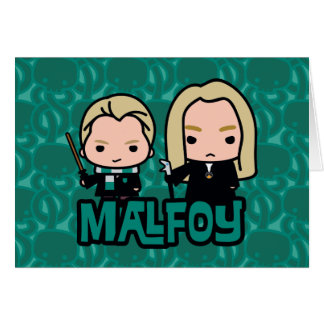 Cartoon Draco and Lucius Malfoy Character Art Card