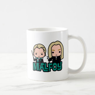 Cartoon Draco and Lucius Malfoy Character Art Coffee Mug