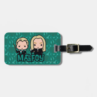 Cartoon Draco and Lucius Malfoy Character Art Luggage Tag