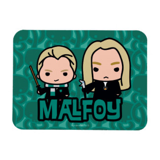 Cartoon Draco and Lucius Malfoy Character Art Magnet
