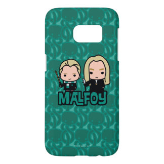 Cartoon Draco and Lucius Malfoy Character Art Samsung Galaxy S7 Case