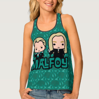 Cartoon Draco and Lucius Malfoy Character Art Tank Top