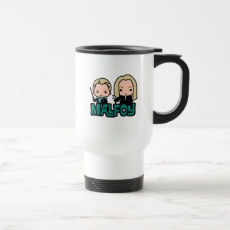 Cartoon Draco and Lucius Malfoy Character Art Travel Mug
