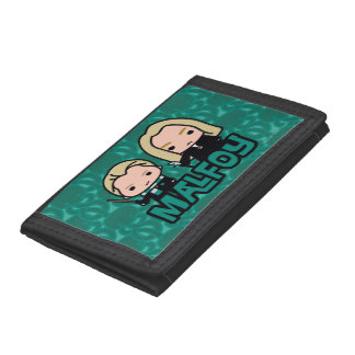 Cartoon Draco and Lucius Malfoy Character Art Tri-fold Wallet