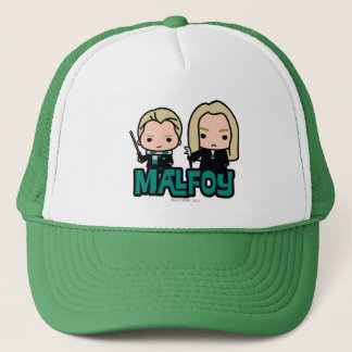Cartoon Draco and Lucius Malfoy Character Art Trucker Hat