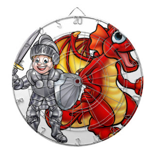 Cartoon Dragon and knight 2017 A3-01 Dartboard