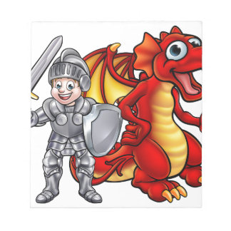 Cartoon Dragon and knight 2017 A3-01 Notepad