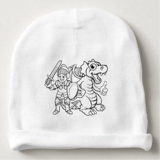 Cartoon Dragon and Knight Baby Beanie