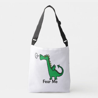 Cartoon Dragon Fear Me Crossbody Bag